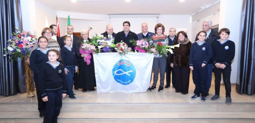 Visite du président général  de la société de Saint Vincent de Paul au Liban