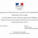 Réception en l'honneur de l'Amicale Saint Marc -Alexandrie au Consulat de France