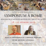 Diaconie de la beauté 2020 » (18 – 22 février), symposium à Rome