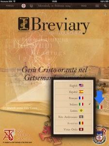 Bréviaire portable sur une application iBreviary
