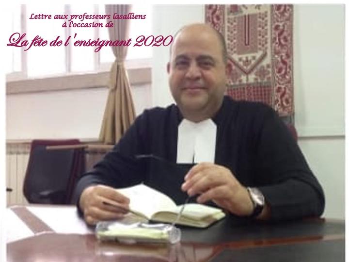 Lettre du Frère Visiteur aux professeurs lasalliens à l'occasion de La fête de l'enseignant 2020