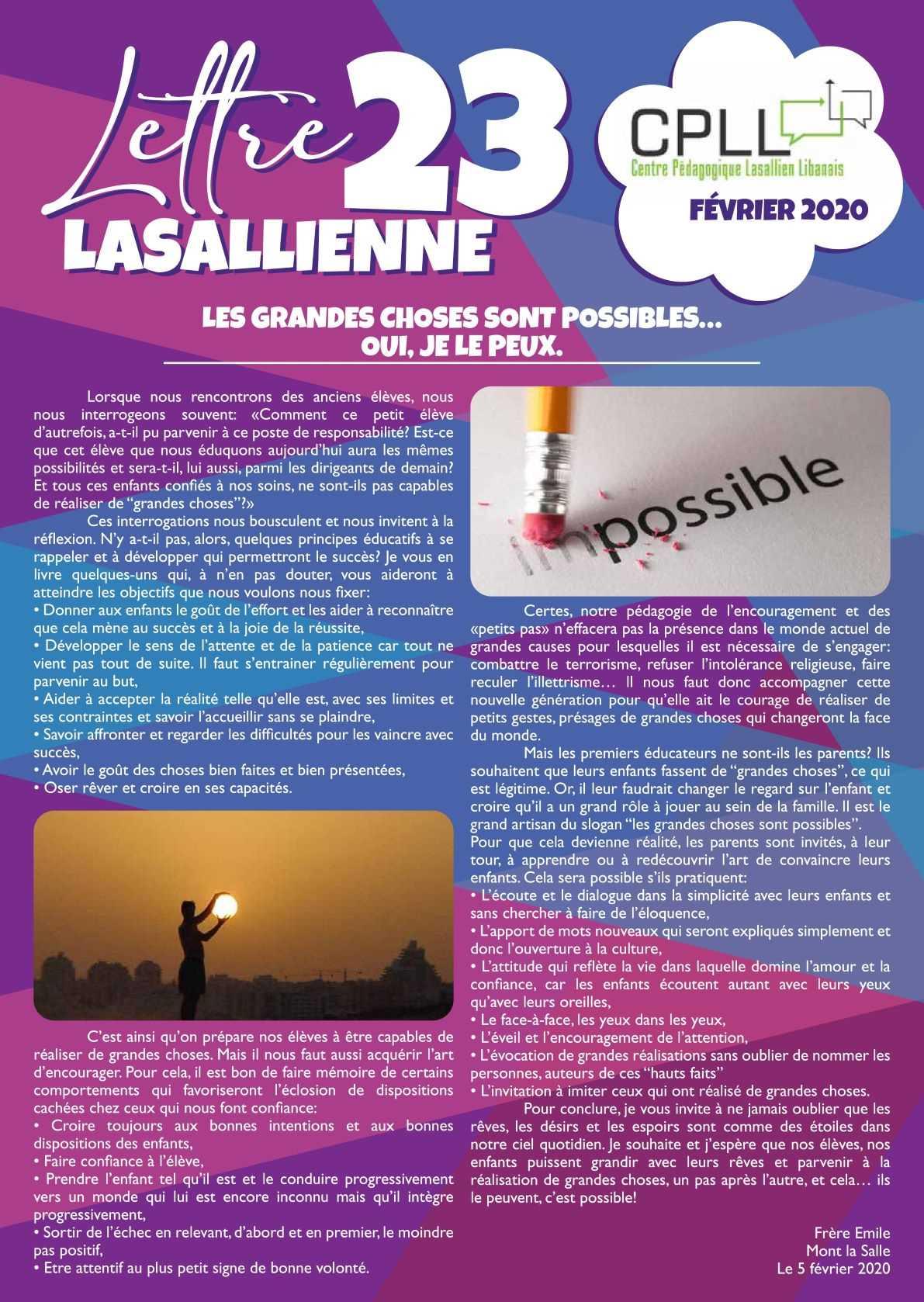 Lettre Lasallienne 23