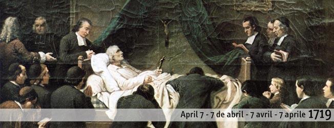 7 avril 1719 : Mort de Saint Jean Baptiste de La Salle à Rouen.