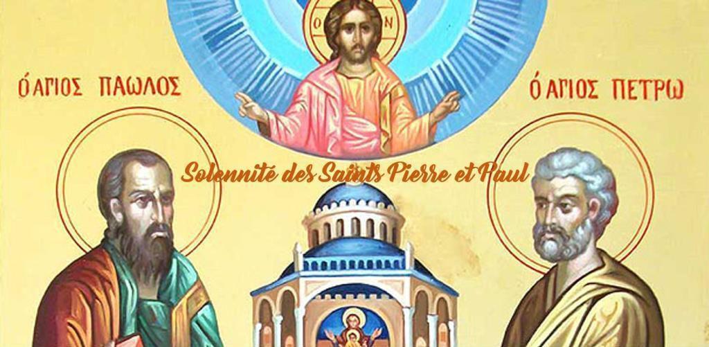 « Deux frères pour une seule Eglise:  Pierre en est le fondement et Paul  l'architecte.»