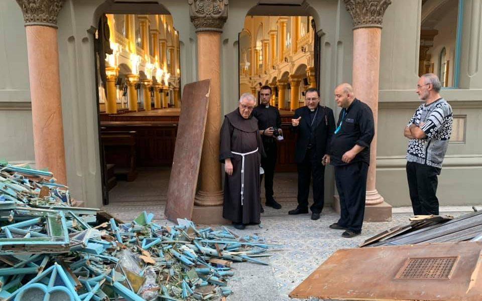Le nonce apostolique au Liban Monseigneur Joseph Spiteri, au Sacré-Coeur