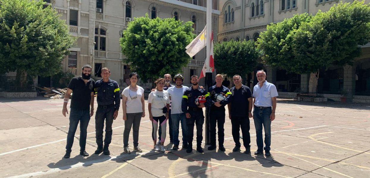 Les Sapeurs Sauveteurs de la Sécurité Civile française au Sacré-Coeur