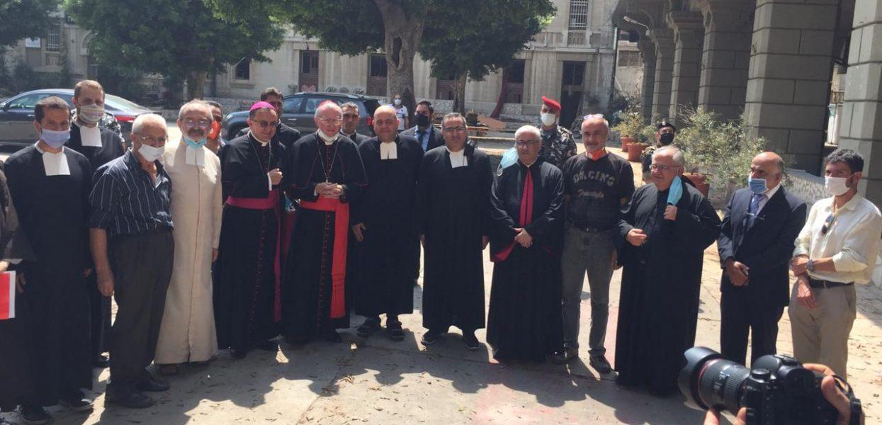 Le cardinal secrétaire d'État du Vatican, Pietro Parolin, en visite au Collège du Sacré-Cœur.