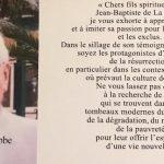 Mot du Frère Visiteur lors de la messe de requiem pour le repos de l'âme du Frère Régis Claude Robbe.