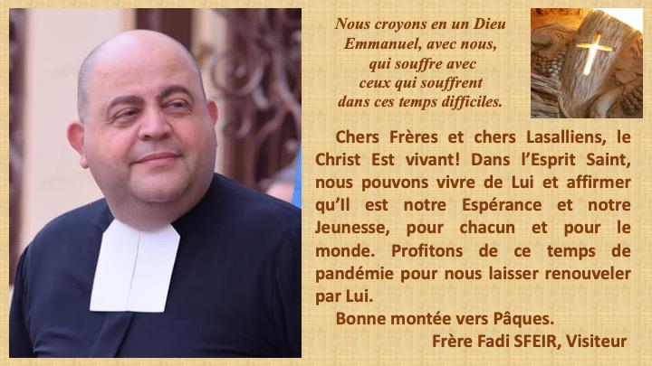 Frère Visiteur : Message de Carême et de Pâques 2021.
