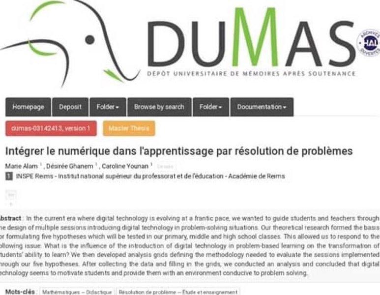 Master 2 Ingénierie des e-formations et des usages du Numérique : Félicitations aux dames qui se sont distinguées!