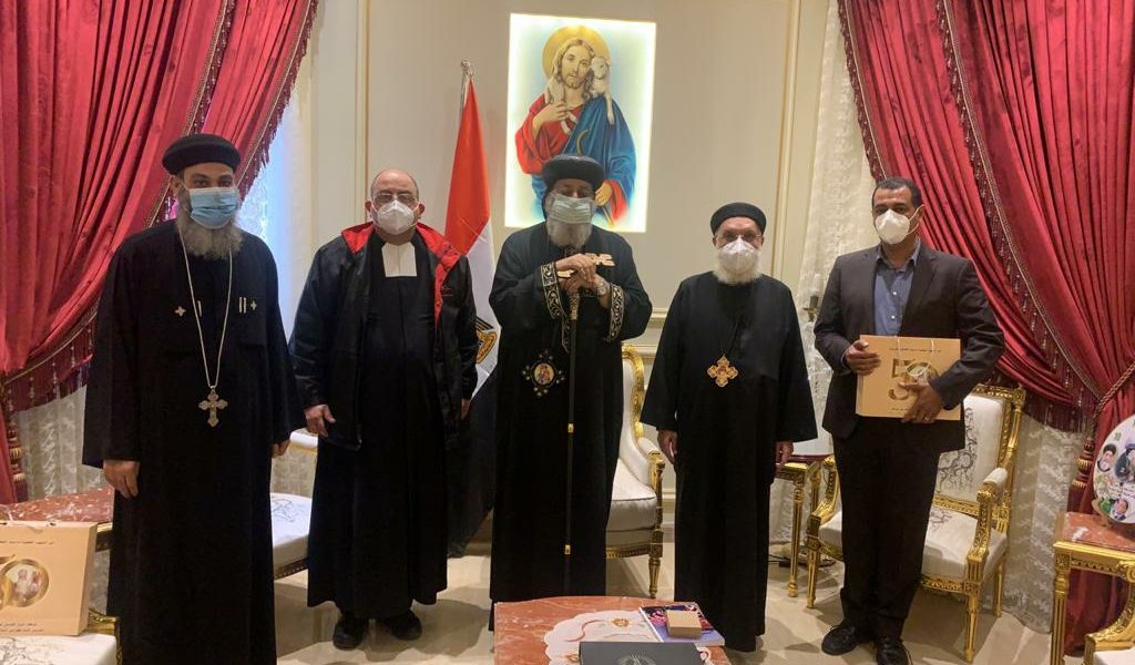 Sa Sainteté le Pape Tawadros reçoit le Frère visiteur.