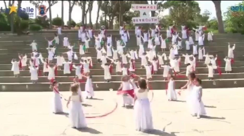Les élèves de la grande section de Mont La Salle rendent hommage à Beyrouth, la capitale du Liban🇱🇧 .